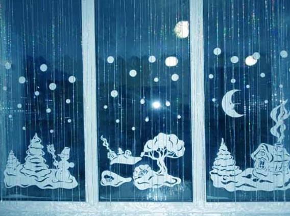 Как украсить дом на Новый Год: делаем прозрачные снежинки...