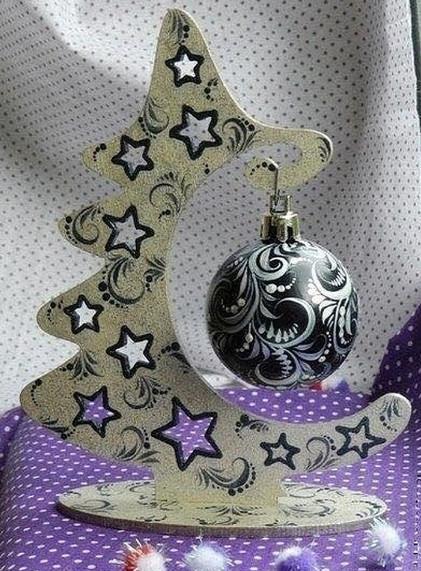 Оригинальная идея для новогоднего декора...
