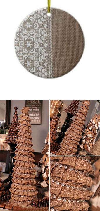 Замечательные идеи: новогодние вещицы из джута и мешковины...