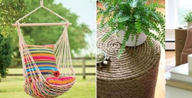 Веревка в интерьере: стильные идеи и практичные вещи...