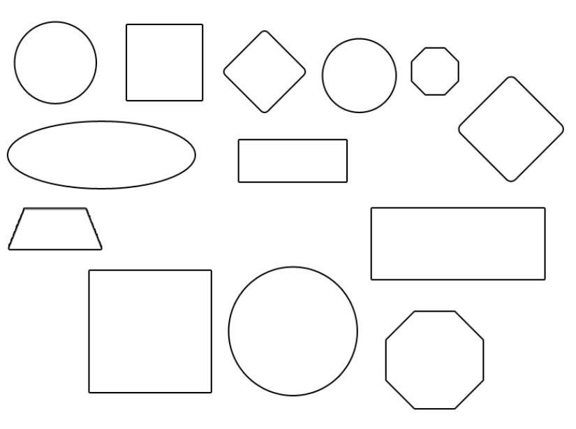 картинка геометрических фигур разного размера предназначенные