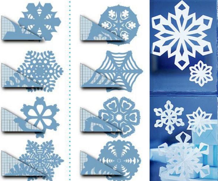 Как сделать красивые новогодние снежинки