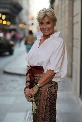 Богемный стиль для зрелых женщин...