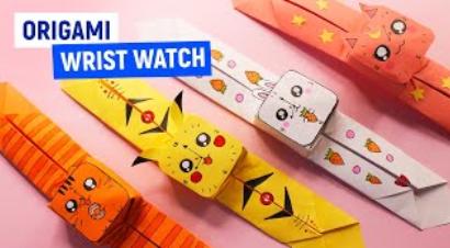 ⌚DIY ОРИГАМИ ЧАСЫ ⌚ Как сделать БРАСЛЕТ своими руками⌚Простые поделки из бумаги ⌚Origami paper Watch