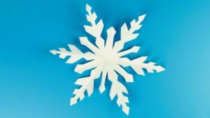 ❄Как красиво вырезать снежинку из бумаги❄Простые снежинки / Как сделать снежинку / Paper Snowflake